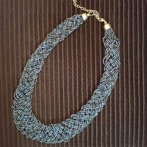 Jewelry - Dark Blue Woven Necklace